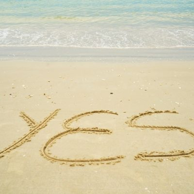 yes on beach