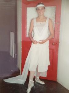 Working within the 'All White' theme dictated by our teacher, this was one of my first designs at college.