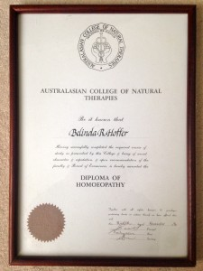 My Diploma of Homoeopathy. A proud moment for me.