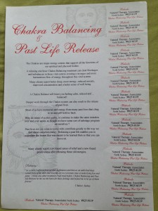 Then the poster I created to promote my new ability - Past Life Readings!